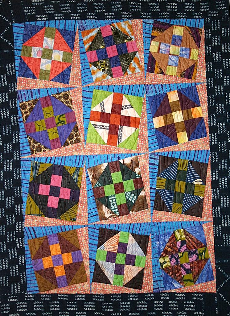 Art textil, Carmen Amézaga, creations-Afrique-bés