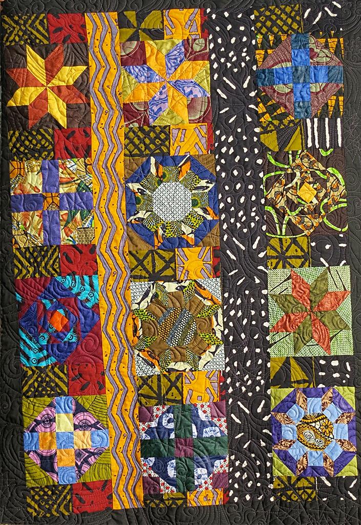 Art textil, Carmen Amézaga, creations-Afrique-jour et nuit