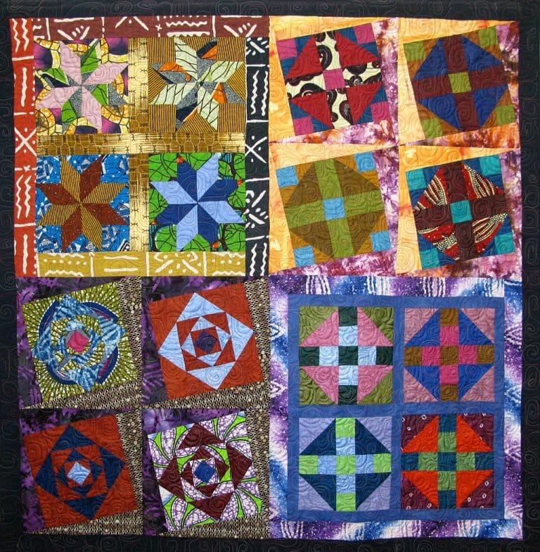 Art Textile - Carmen Amezaga-Afrique, quatre saisons
