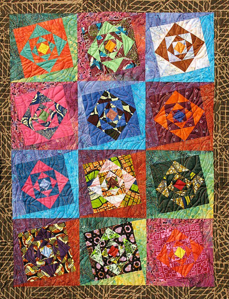 Art textil, Carmen Amézaga, creations-Afrique-tasouma (feu)