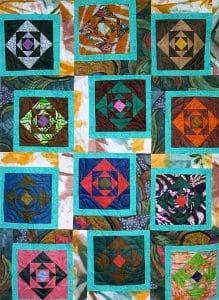 Art textil, Carmen Amézaga, creations-Afrique-turquoise