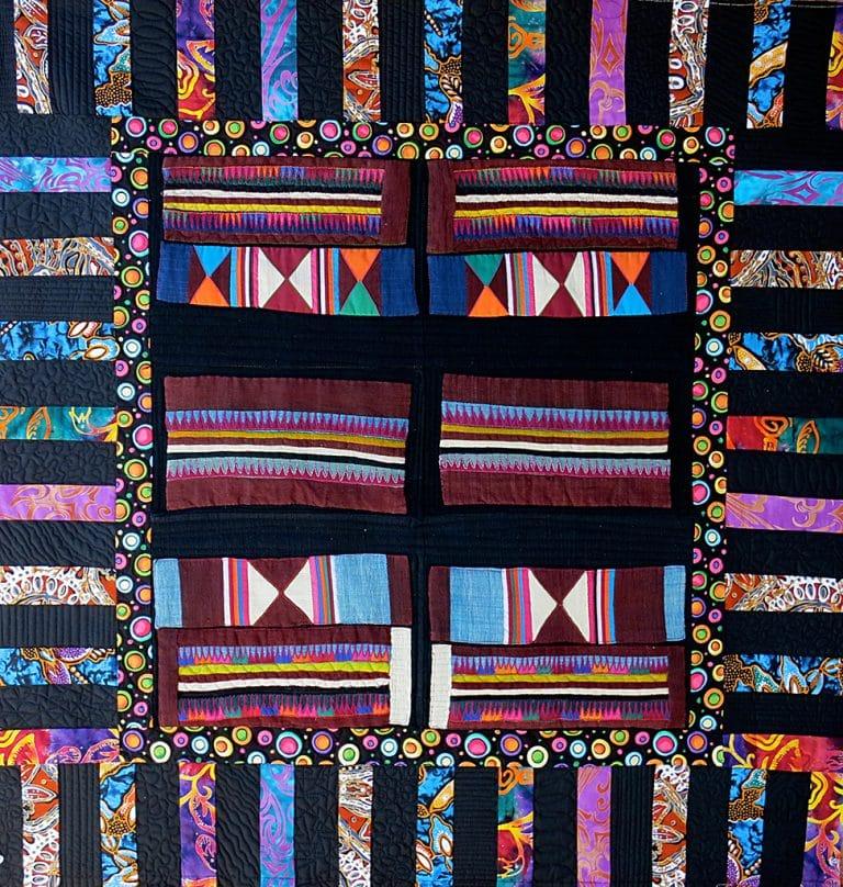 Art textil, Carmen Amézaga, creations-Asie-chaînes de montagne
