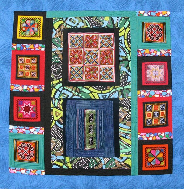 Art textil, Carmen Amézaga, creations-Asie-Mông Viet