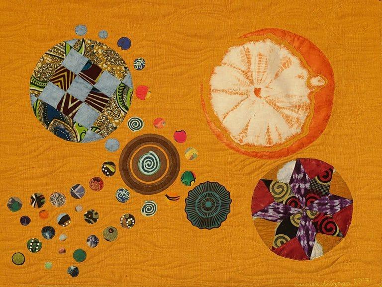 Art textil, Carmen Amézaga, creations-Univers-attire par la purete