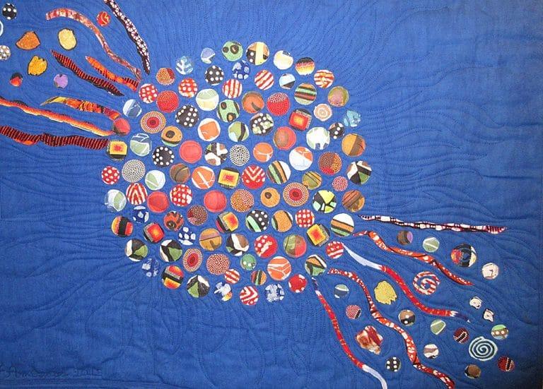 Art Textile-Carmen Amezaga-Univers, Boule de feu
