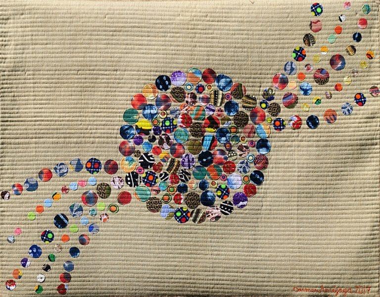 Art Textile-Carmen Amezaga-Univers, de rien naît la couleur