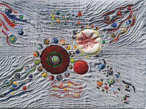 Art textil, Carmen Amézaga, creations-Univers-difficile chemin de la serenite