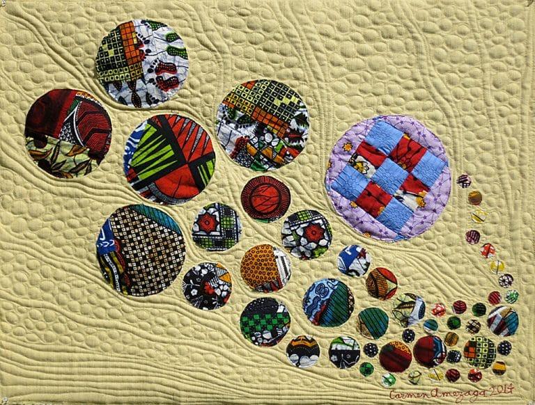 Art textil, Carmen Amézaga, creations-Univers-souffle de lumiere