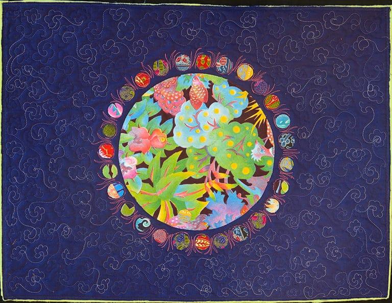 Art textil, Carmen Amézaga, creations-Univers-Printemps