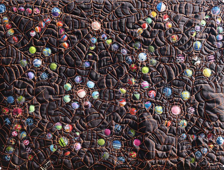 Art textil, Carmen Amézaga, creations-Univers-La rosée