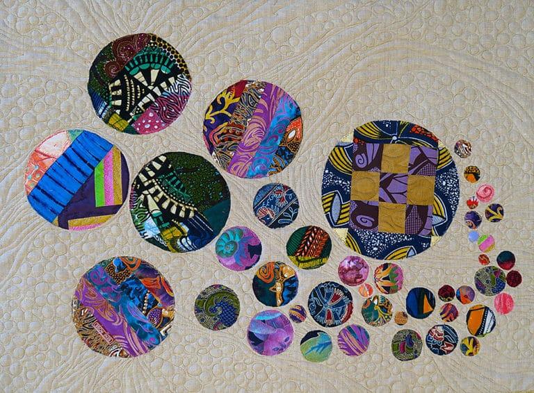 Art Textile-Carmen Amezaga-Univers, Souffle de lumière 2