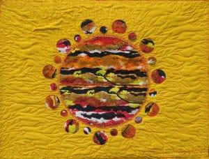 Art Textile-Carmen Amezaga-Univers, Feu