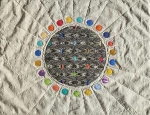 Art Textile-Carmen Amezaga-Univers, lumière étoilée