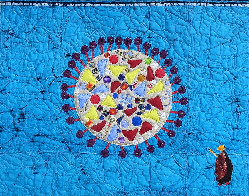 Art Textile-Carmen Amezaga-Univers, Coronavirus